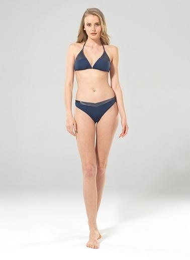 Blackspade Blackspade Koyu Denim Varak Baskılı Bikini Alt İndigo